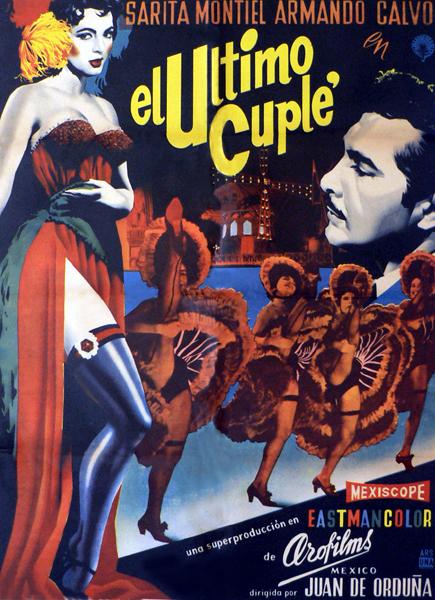 Cartel de 'El último cuplé'.